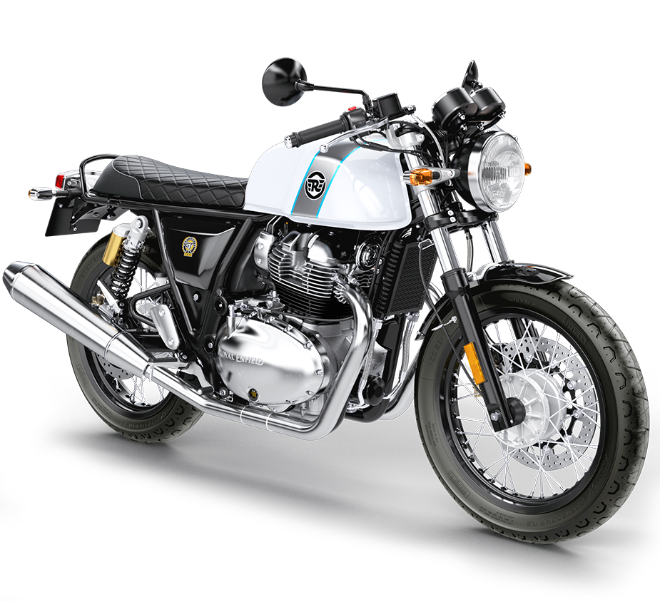 front three quarter studio image of the royal enfield continental gt 650