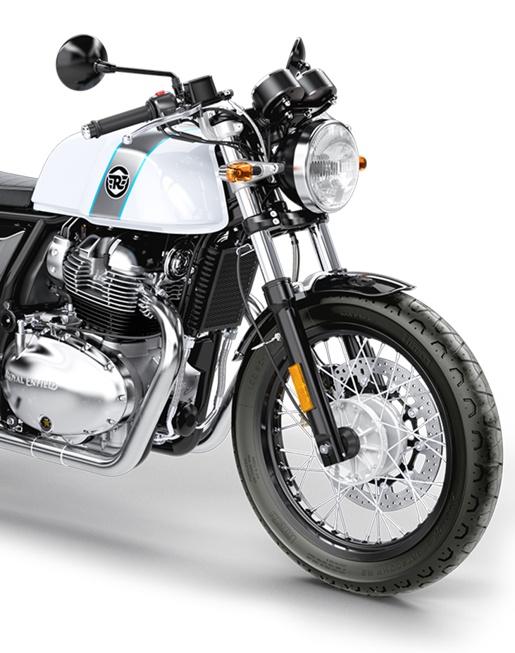 Royal enfield ice queen continental GT 650 front rhs